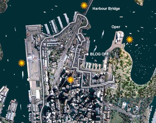 Meine Feuerwerkkarte Sydney 2008