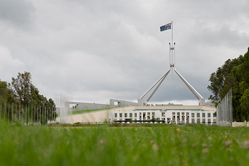 Neues Parlamentshaus in Canberra