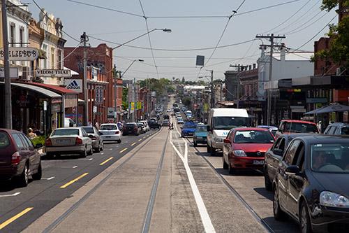 Straßenzug in Melbourne