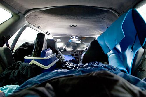 Übernachtung im Auto