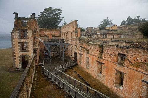 Zerstörtes Gefängnis in Port Arthur