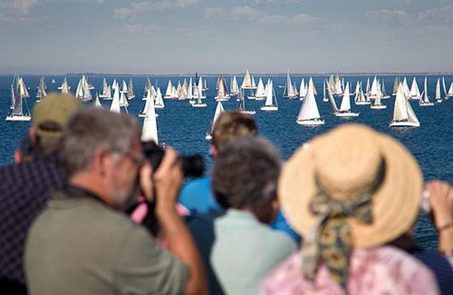 Segelschiffe in der Bucht von Melbourne
