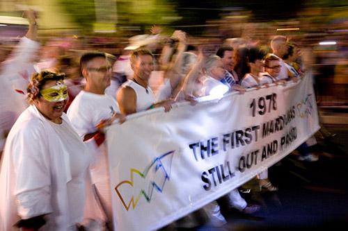 Banner zum ersten Mardi Gras 1978