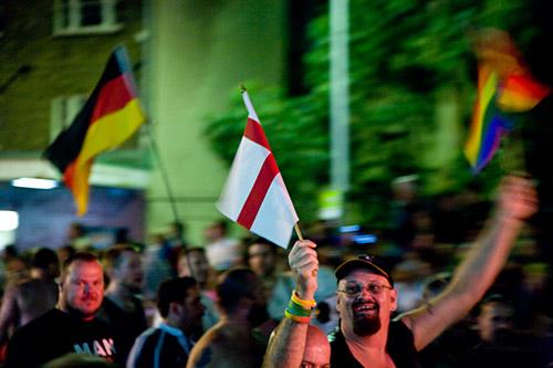 Flaggen verschiedener Nationalitäten und Prädispositionen