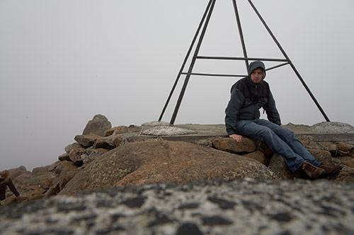 Auf der Spitze von Mount Wellington