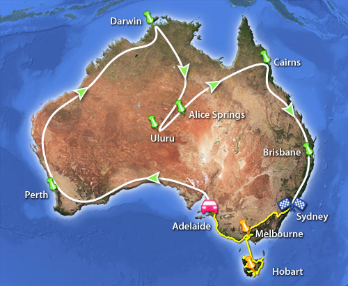 Manniac und Charlies Route in Australien