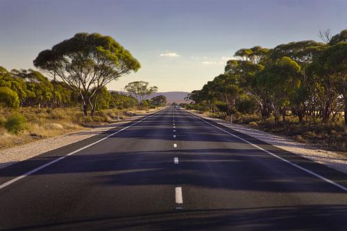 Straße in Süd-Australien
