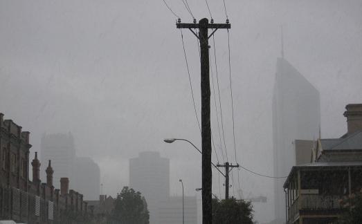 Regen ueber Perth