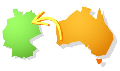 Grafik: Von Australien nach Deutschland