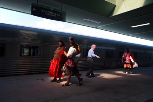 Ein letzter Blick zurück auf den Zug, in dem ich nahezu 3 Tage verbracht habe.