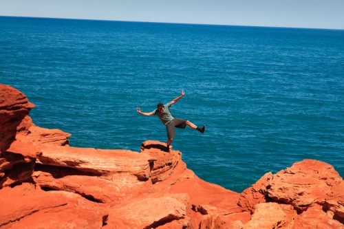 Rote Felsen in Broome